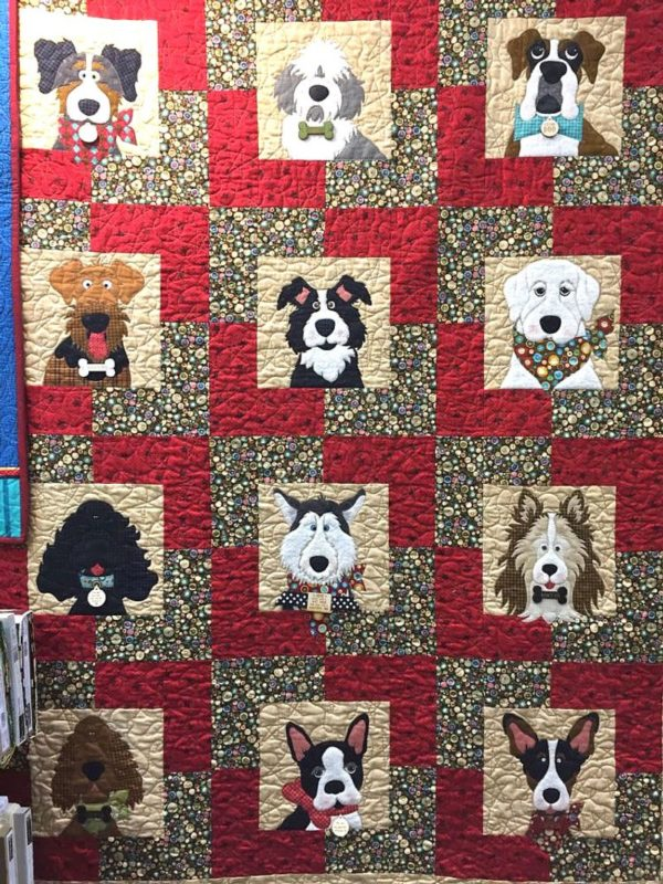Dog Beautiful Faces Group Sherpa Fleece Blanket