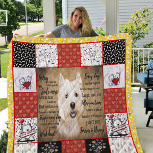Westie Dog 4 Sherpa Fleece Blanket I1d1