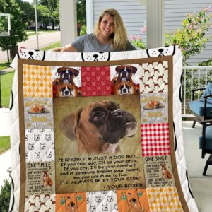 Boxer Dog Sherpa Fleece Blanket I1d2