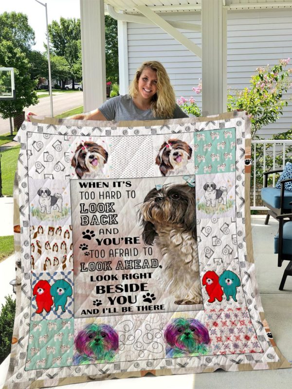 Shih Tzu Dog Sherpa Fleece Blanket I1d2- Made With Love