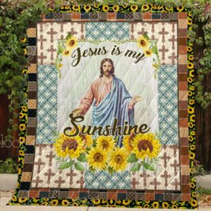 Jesus Is My Sunshine Sherpa Fleece Blanket