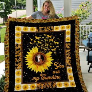 You Are My Sunshine Style Four Sherpa Fleece Blanket