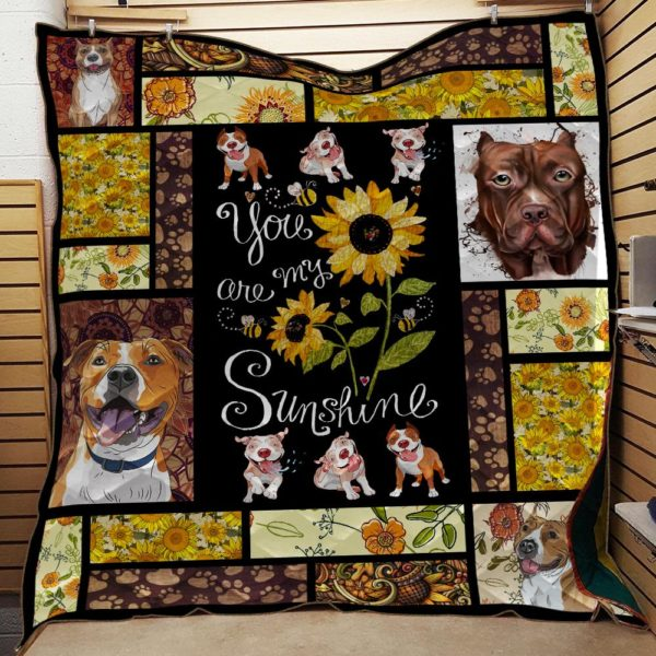 Pitbull - You Are My Sunshine Sherpa Fleece Blanket
