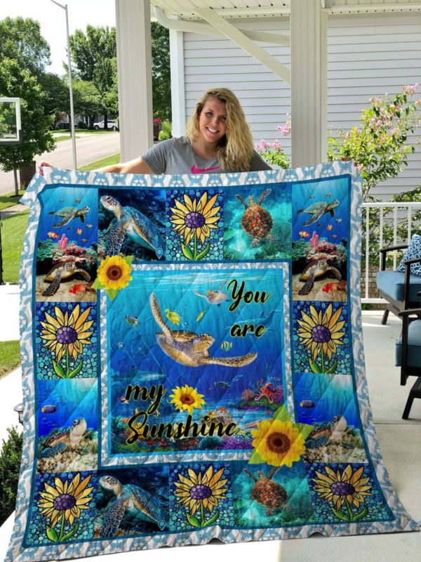 Turtle - You Are My Sunshine Sherpa Fleece Blanket New