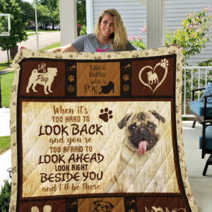 Dog-Blanket Sherpa Fleece Blanket-Pug 09092019