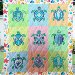 Turtle Sherpa Fleece Blanket